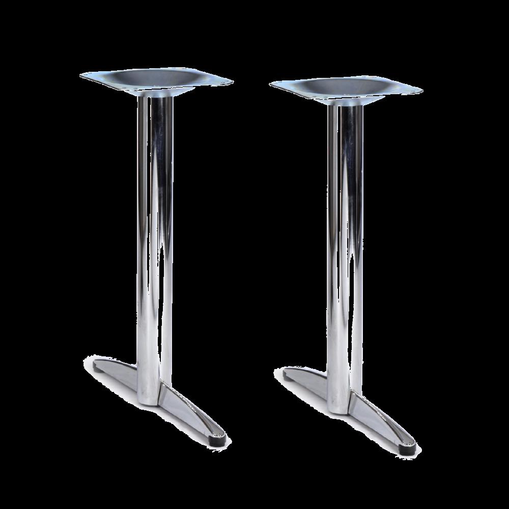 twin chrome base tables chrome base tables tables. Black Bedroom Furniture Sets. Home Design Ideas