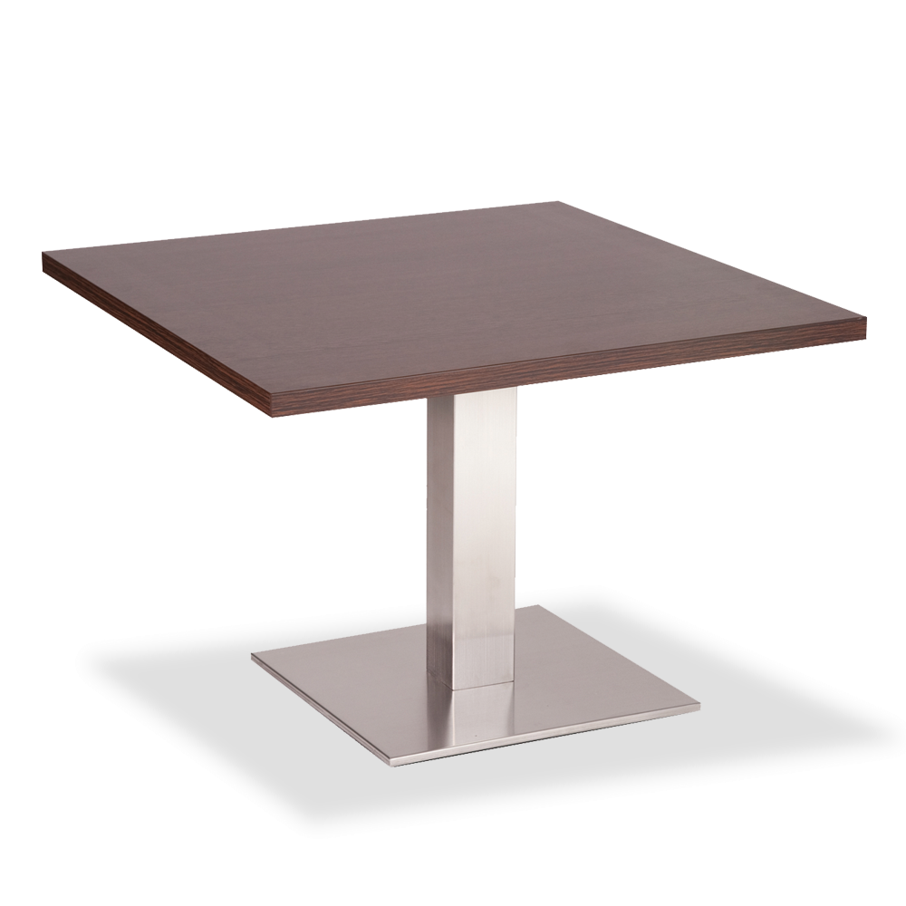 Square Coffee Table Size: Square Stainless Base Coffee Height Tables