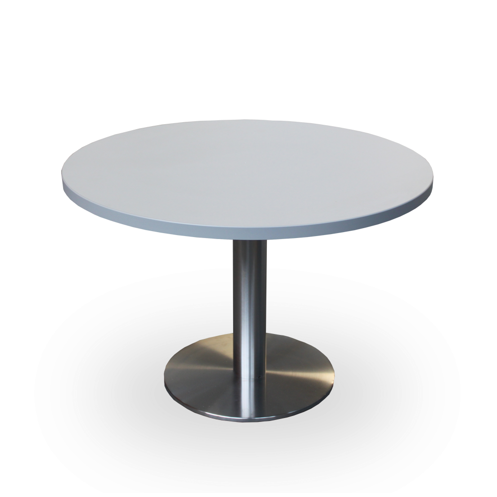 Round Stainless Base Coffee Height Tables Stainless Base Tables Tables