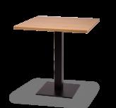 Black Square Base Tables