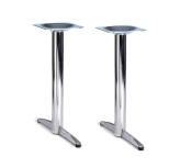 Twin Chrome Base Tables