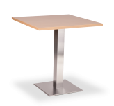 Square Stainless Base Dining Height Tables