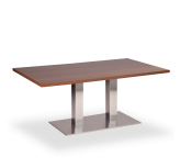 Twin Stainless Base Coffee Height Tables