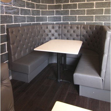 Traditional Deep Button Back Booth Seating Banquette Seating