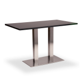 Twin Stainless Base Dining Height Tables