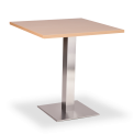 Square Stainless Base Coffee Height Tables